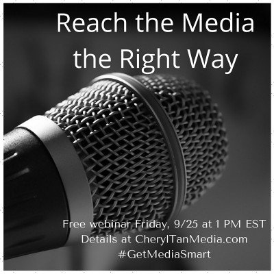 Reach the media the right way – Join me for a free webinar