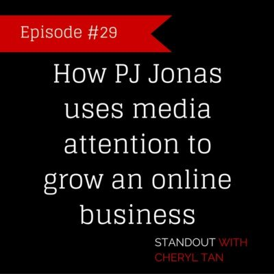 29: How PJ Jonas uses media attention to grow an online business